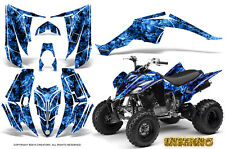 YAMAHA RAPTOR 350 GRAPHICS KIT CREATORX DECALS STICKERS INFERNO BLUE