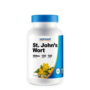 Nutricost St Johns Wort Capsules (500mg) 120 Capsules- Gluten Free and Non-GMO