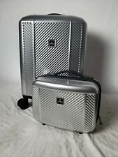 """$360 TAG Spectrum 20"""" Carry-On 2 Piece Luggage Suitcase Hard Silver"""