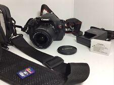 Canon EOS Rebel T3i / EOS 600D 18.0MP DSLR Camera Black 18-55mm lens 32 GB/Case