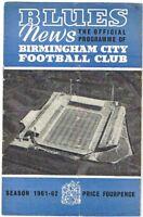 Birmingham City v Burnley 1961/2