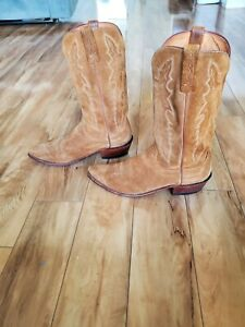 Lucchese 1883 Suede Cowboy Boots Men's 9.5 EE