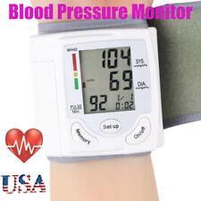 Automatic Wrist Blood Pressure Monitor Digital Heart Rate Bp Meter Tester Gauge