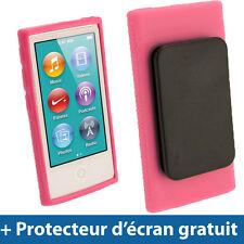 Rose Étui Coque 'Clip'n'Go' TPU pour Nouveau Apple iPod Nano 7ème Gén 7G 16GB