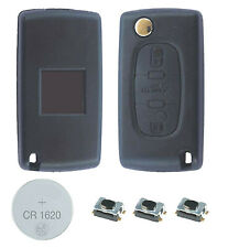 Fits Peugeot  308 3 Button KEY FOB REMOTE CASE Repair Fix Kit HU83 key blade