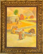 Armenian Art Gallery-NEAR THE FOUNTAIN, Oil Painting, ARDAVAZT PAPIKYAN,Armenia