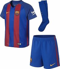 Official Nike Barcelona Little kids Home Full Kit 2016-17, Age: 3-4 Years