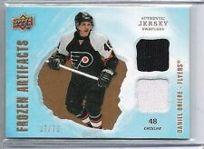 08-09 2008-09 UD ARTIFACTS DANIEL BRIERE FROZEN ARTIFACTS JERSEY /75 FLYERS
