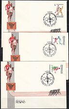 Russia 1992 set of 3 FDC covers Barcelona Olympics Games Judo Handball Fencing