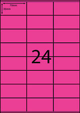 A4 Labels 100 sheets- FLUORO PINK  -24 labels per page