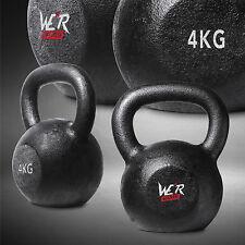 4KG Cast Iron Kettlebell Gym Fitness Exercise Strength Condition Kettlbells