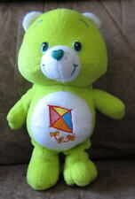 "9"" Lime Green DO YOUR BEST Care Bear Stuffed Plush TOY Kite Luck Clean"