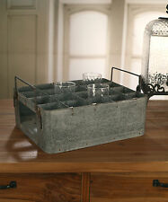 Industrial Metal Drinks Tray French Country Style Picnic Tray Home Decor NEW