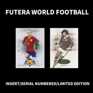 FUTERA WORLD FOOTBALL SOCCER CARD INSERT/SERIAL NUMBERED/LTD LIMITED EDITION