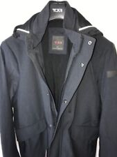 Tumi Tahoe Men's Jacket Rain Coat Fishtail Parka Slate Gray Black RFID Security