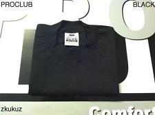 3 NEW PROCLUB HEAVY WEIGHT T-SHIRT BLACK PLAIN PRO CLUB BLANK TEE S-7XL 3PC