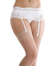 Wide Lace Suspender Belt Black Red White By Silky