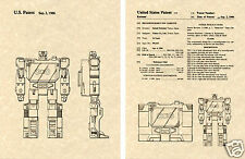 Transformers Soundwave Us Patent Art Print Ready To Frame! 1986 Decepticon