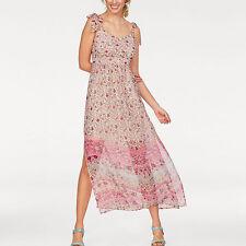 genial Gr.36 S MAXIKLEID Maxi Kleid Blümchen BOHO GOA rosa pastell Sommerkleid
