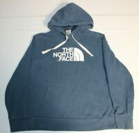 Womens The North Face Half Dome Big Logo Hoodie Sweatshirt Pullover Large Blue