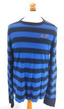 HOLLISTER Mens Long Sleeve T-Shirt Top XL Blue Black Cotton
