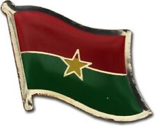 Burkina Faso Country Flag Bike Motorcycle Hat Cap lapel Pin