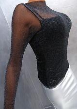 Unique Transparent Black NeU 2018 Damen Sexy Fit Shirt Hemd M12 Blouse Bluse S