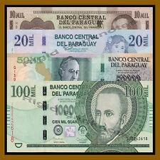 Paraguay 10000 20000 50000 100000 Guaranies ,4 Pcs Set, 2013/2015 P-New Unc
