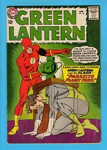 GREEN LANTERN # 20 VG+ (4.5) FLASH X-OVER - UNSTAMPED US CENTS DC - 1963