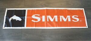 New Simms Fishing Banner Flag Fly Fish Bass Bait Shop Marina Store Outfitters
