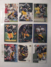 Jerome Bettis lot of 9, 1998 -2005