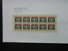 Denmark Christmas Stamp 1905 Newprint 1976 1 edition