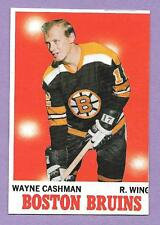 1970-71 BLANK BACK PROOF WAYNE CASHMAN BRUINS HOCKEY CARD O-PEE-CHEE GENUINE OPC