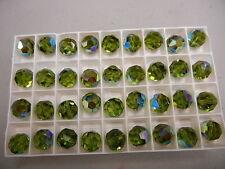 12 swarovski vintage crystal beads,12mm olivine AB #5000