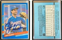 Jeff Huson Signed 1991 Donruss #305 Card Texas Rangers Auto Autograph