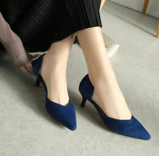 NEW Women's Size 7 Blue Faux Suede Pumps w/ Pointed Toe