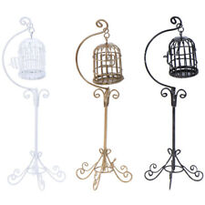 1:12 Dollhouse Mini Metal Bird Cage Model With Bracket Miniature DecoratODUS