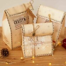Christmas Brown Kraft Paper Bags Gift Food Bread Candy Wedding Party Bags