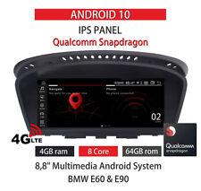 BMW E60 E61 E62 E63 E90 E91 E92 Android 10 4+64GB IPS QUALCOMM SNAPDRAGON 8CORE