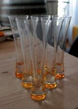 FRENCH CHAMPAGNE VEUVE CLICQUOT  6 TRENDY FLUTES