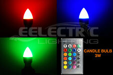 Super BRIGHT 16 Color Changing RGB E26 E27 Decorative Candle LED Light Bulb 3W