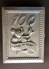 Disney World Pewter Photo Frame 100 Years of Magic Book Style With Pin
