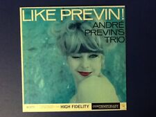ANDRE PREVIN TRIO~like previn! CONTEMPORARY 1960 all ORIGINAL~Early Press~Ex
