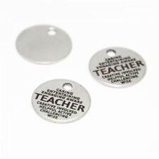 10pcs/lot Caring entertaining teacher charm Teacher Word Collage pendant 20mm