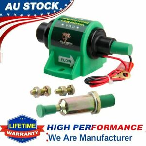 New 12V Micro Electric Diesel Fuel Pump Oil Transfer 35 GPH 4-7 psi Low Flow AU