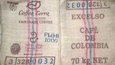 sac en toile de jute café COLOMBIE  design deco jute bag
