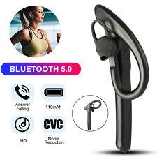 Wireless Bluetooth 5.0 Noise Cancelling Headset Earpiece Earbud Driving Trucker