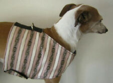 PEACH STRIPE HARNESS VEST ITALIAN GREYHOUND DACHSHUND MIN PIN CHINESE CRESTED