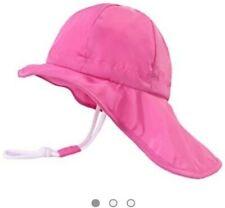 Bnwt Girls Baby Pink Sun Hat Size 48cm M 1-2 years 12-24 months summer