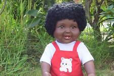 "LARGE 18"" AMERICIAN BLACK AFRICAN DOLL BABY BOYS AKIA QUALITY VINYL DOLL 48CM"